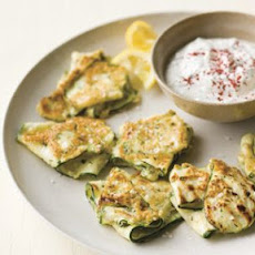 Zucchini Fritters with Herbed Yogurt (Sumac)