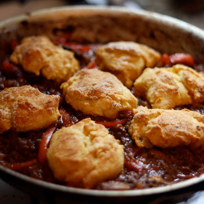 Cornbread and Beef Skillet Pie
