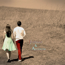 Strolling on a Saturday by Taylor Gillen - Typography Words ( sepia, young adult, couple, vignette, romance )