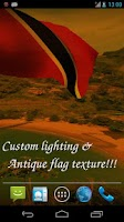 Screenshot of 3D Trinidad & Tobago Flag LWP