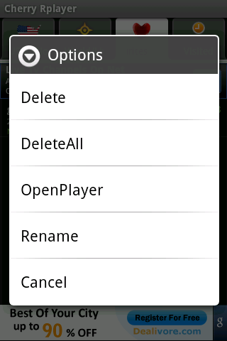 cherry-rplayer for android screenshot