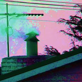 chimney smoke by Lacey Murphy - Digital Art Places ( chimney )