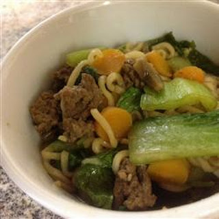 Quick Asian Beef Noodle Soup
