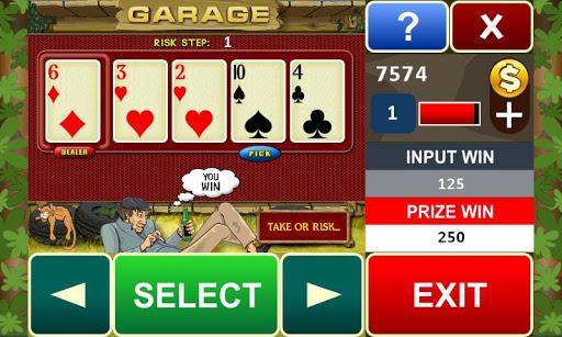 Garage slot machine - screenshot