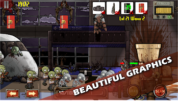 Screenshot of Zombie Crane Tower Defense