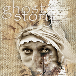 Ghost Story by Daliana Pacuraru - Typography Quotes & Sentences ( daliana pacuraru, ghost, typography, design, tears, book cover )