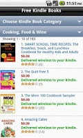 Screenshot of Free eBooks (needs Kindle App)