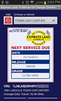 Screenshot of Express Lane 10 Min Oil Change