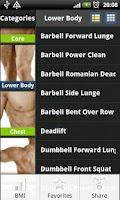Screenshot of Body Exercise&BMI