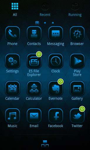 lattice-go-launcherex-theme for android screenshot