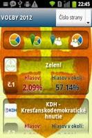 Screenshot of Ja Volím - Voľby 2012 -NR SR