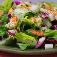 Chopped Salad with Shrimp, Cabbage, Jicama, and Cilantro-Lime Dressing