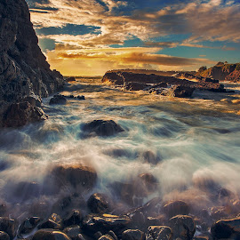 water flow by Surya Fajri - Landscapes Sunsets & Sunrises ( canon, kiama, cathedralrocks, australia, nsw, sunrise )