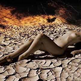 ARIDITY  by George Arnon - Nudes & Boudoir Artistic Nude ( desert, nude, arid soil )