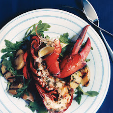 Grilled Lobster and Potatoes with Basil Vinaigrette