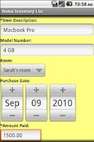 Screenshot of Home Inventory Organizer Lite