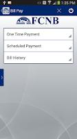 Screenshot of FCNB Mobile Banking