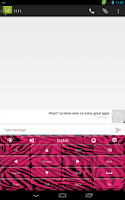 Screenshot of Pink Zebra Keyboard