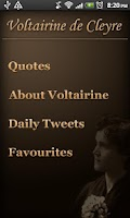 Screenshot of Voltairine Quotes