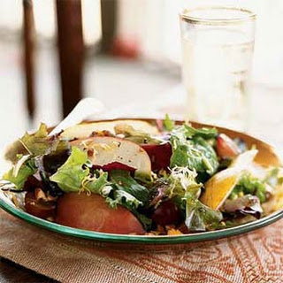 Autumn Apple, Pear, and Cheddar Salad with Pecans