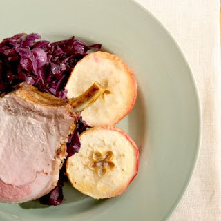 Pork Roast with Roasted Apples and Braised Red Cabbage