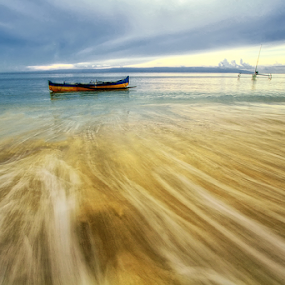 Surealis Boat by Jimmy Papia - Landscapes Beaches