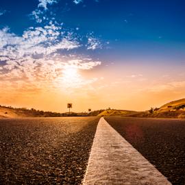 New Begining by Fahad Iqbal - Transportation Roads ( canon, desert, hdr, highway, travel, landscape )