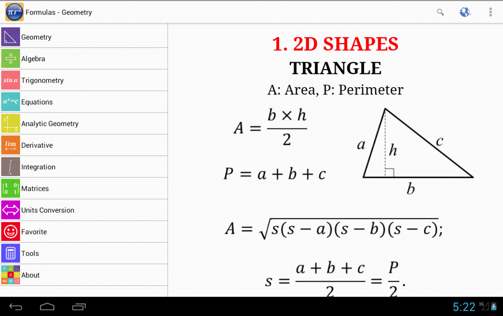 Maths Formulas Screenshot 8