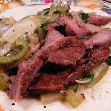 Flank Steak in Fajita Marinade
