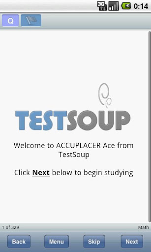 Accuplacer Ace from TestSoup