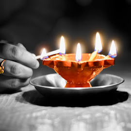 Festival by Sandeep Nagar - Digital Art Things ( ligtning, lamp, light, selective color, pwc )