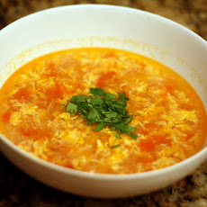 Dinner Tonight: Tomato Egg Drop Soup