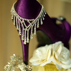 Bride's Jewelry  by Lizzy Foxx - Wedding Details ( purple, wedding, silver, jewelry, crystal, sparkle, necklace, object, artistic )