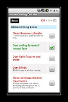 Screenshot of House Cleaning Checklist