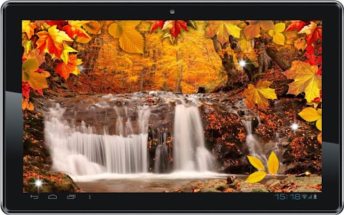 Autumn Waterfall livewallpaper - screenshot