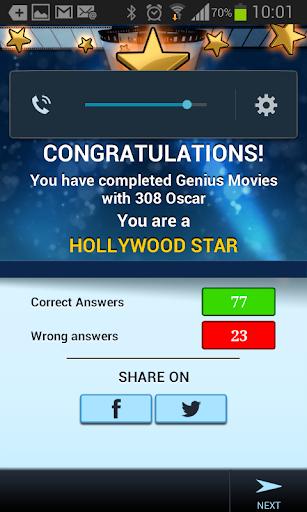 Genius Movies Quiz - screenshot