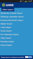 Screenshot of Swedavia Swedish Airports