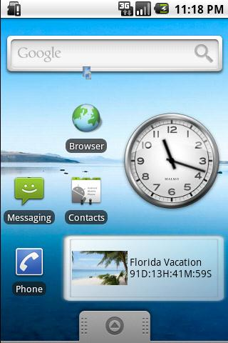 Vacation Countdown Widget