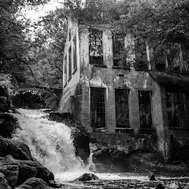 Water still Flowing  by Roland Bast - Buildings & Architecture Decaying & Abandoned ( canon, building, canada, black and white, ruins,  )
