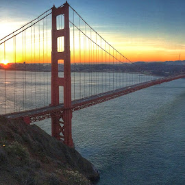 Golden Gate Sunrise by David Long - Instagram & Mobile iPhone