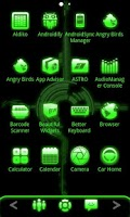 Screenshot of ADW Theme Green Glow Pro