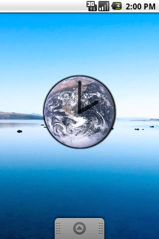 Blue Marble Clock