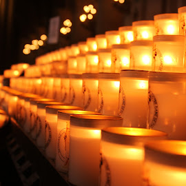 Candles of Notre Dame by Abhinav Prasad - Artistic Objects Other Objects ( paris, church, notre dame, candles, endless, france )
