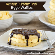 Boston Cream Pie Eggo Waffles