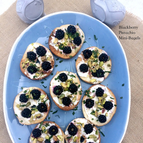 Blackberry Pistachio Mini Bagels
