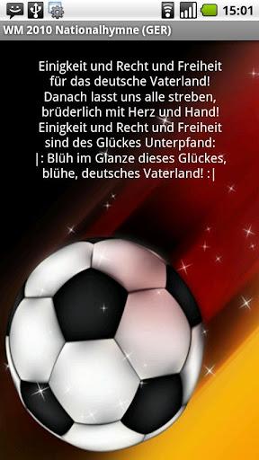 WM 2010 Nationalhymne GER