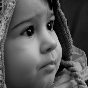 by Milanka Dimic - Babies & Children Child Portraits ( monica, black and white, child portraits, children )