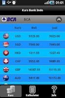 Screenshot of Kurs Bank Indo