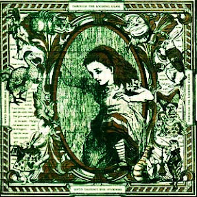 Alice looking glass lsd blotter art