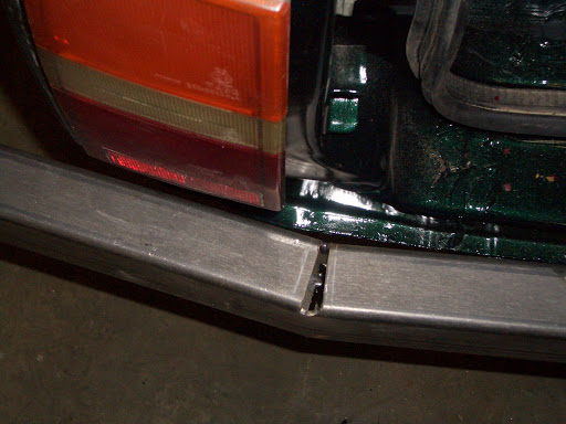 Replaced Rear Bumper